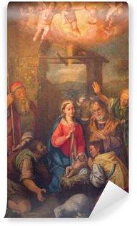 Vinylová Fototapeta Řím - Klanění pastýřů malovat v kostele Chiesa Nuova