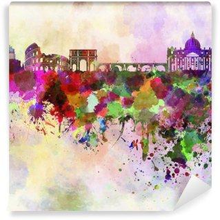 Vinylová Fototapeta Řím panorama v akvarelu pozadí