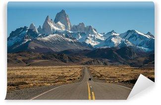 Vinylová Fototapeta Road to El Chalten, Fitz Roy v pozadí