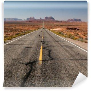 Vinylová Fototapeta Road to Monument Valley - z pohledu
