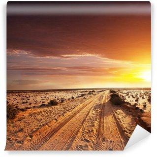Vinylová Fototapeta Road v poušti