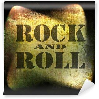 Vinylová Fototapeta Rock and roll hudba, staré rezavé zeď na pozadí