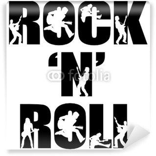 Vinylová Fototapeta Rock n roll slovo s siluety