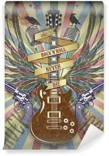Vinylová Fototapeta Rock n roll symbol.Retro styl pozadí.