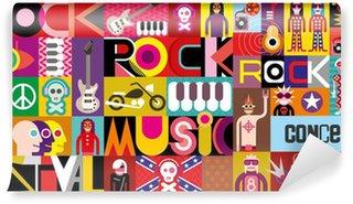 Vinylová Fototapeta Rockový koncert plakát