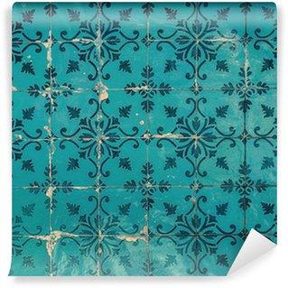 Fototapeta Winylowa Rocznika azulejos, tradycyjne portugalskie płytki