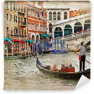 Vinylová Fototapeta Romantické benátské kanály-umělecké registrace do malování styl