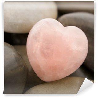 Vinylová Fototapeta Rose quartz srdce