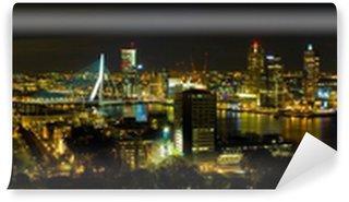 Vinylová Fototapeta Rotterdam v noci