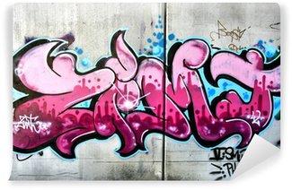 Fototapeta Winylowa Różowy graffiti w Salzburg, Austria. Miejska sztuka czy wandalizm.