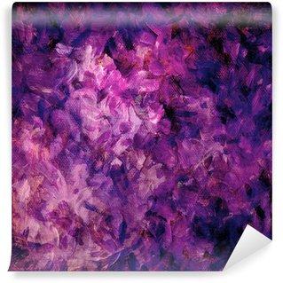 Fototapeta Winylowa Różowy i fioletowy, kolorowe, malowane tła na płótnie