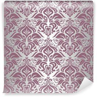 Fototapeta Winylowa Różowy i srebrny rocznika tapety