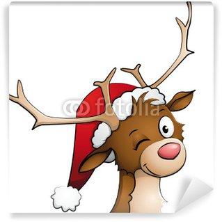 Vinylová Fototapeta Rudolph červená-čichal Reindeer
