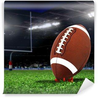 Vinylová Fototapeta Rugby míč na trávě na stadionu