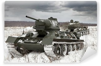 Vinylová Fototapeta Ruské tanky T34