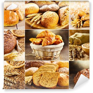 Vinylová Fototapeta Různé čerstvý chléb