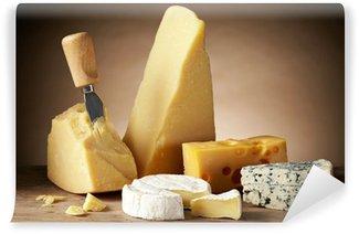 Vinylová Fototapeta Různé druhy sýra