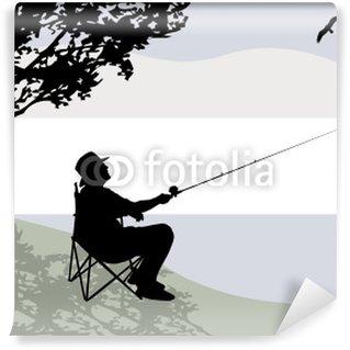 Vinylová Fototapeta Rybář