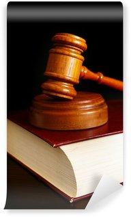 Fototapeta Winylowa Sąd gavel na szczycie książki prawniczej