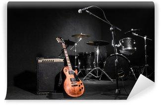 Vinylová Fototapeta Sada hudebních nástrojů během koncertu