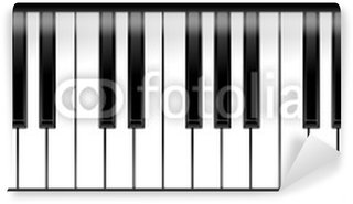 Vinylová Fototapeta Sada klavír klávesy v ilustraci, černé a bílé