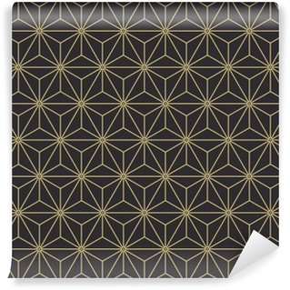 Fototapeta Samoprzylepna Jednolite rocznika antyczny paleta japońskie asanoha izometrycznym wektor wzór