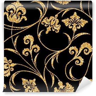 Fototapeta Samoprzylepna Złoty kwiatu tapety