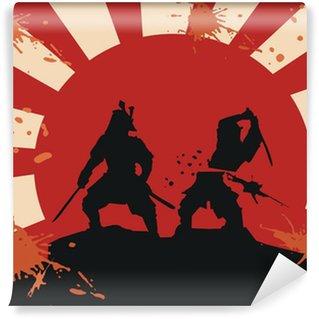 Vinylová Fototapeta Samuraj - krev - boj (epos bojové umění)