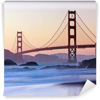 Vinylová Fototapeta San Francisco je Golden Gate Bridge za soumraku