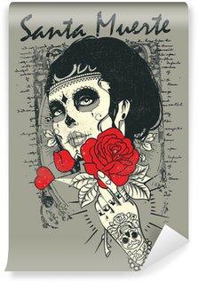 Vinylová Fototapeta Santa Muerte Rose