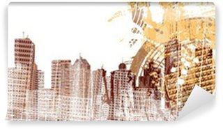 Vinylová Fototapeta Saxofonista na pozadí Grunged