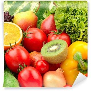 Vinylová Fototapeta Sběr ovoce a zeleniny pozadí