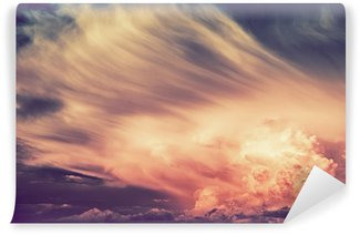 Vinylová Fototapeta Scenic Sunset Storm