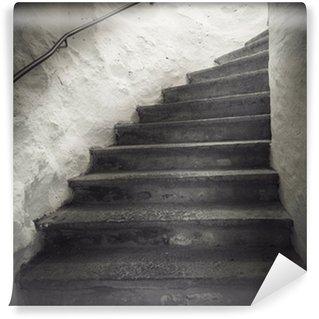 Vinylová Fototapeta Schodiště s strašidelné světlo