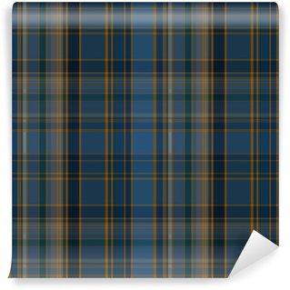 Vinylová Fototapeta Seamless plaid tmavě vector pattern