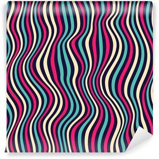 Fototapeta Winylowa Seamless stylowe kolorowe paski. Pomachał Ilustracji wektorowych
