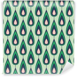 Vinylová Fototapeta Seamless vintage pattern