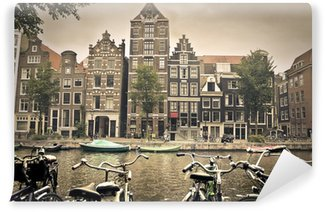 Vinylová Fototapeta Šedý den v Amsterdam City