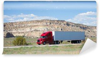 Vinylová Fototapeta Semi-truck na silnici v poušti