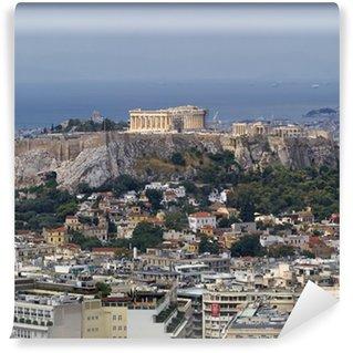 Vinylová Fototapeta Severní pohled na Parthenon na Akropoli v Aténách Řecko