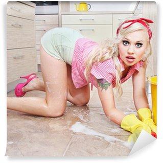 Vinylová Fototapeta Sexy žena v domácnosti