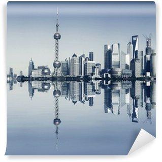 Vinylová Fototapeta Shanghai Bund v městské krajiny Panoramatické záběry horizontu
