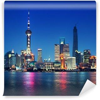 Vinylová Fototapeta Shanghai, Čína v noci