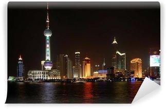 Vinylová Fototapeta Shanghai Noční pohled