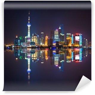 Vinylová Fototapeta Shanghai panorama, Carré