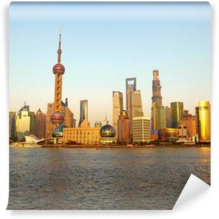 Vinylová Fototapeta Shanghai panorama. Pohled z bund