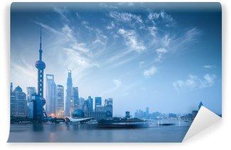 Vinylová Fototapeta Shanghai Skyline v Dawn