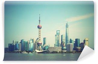 Vinylová Fototapeta Shanghai skyline