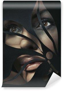 Vinylová Fototapeta Shaped portrét krásné ženy