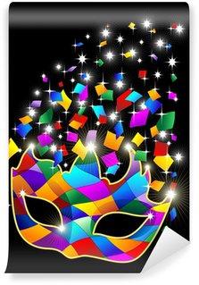 Vinylová Fototapeta Shiny Glitter Harlequin Harlequin Mask-Maska-Vector